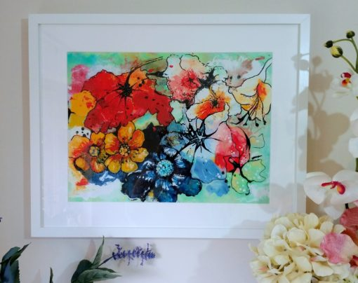Colour Burst framed