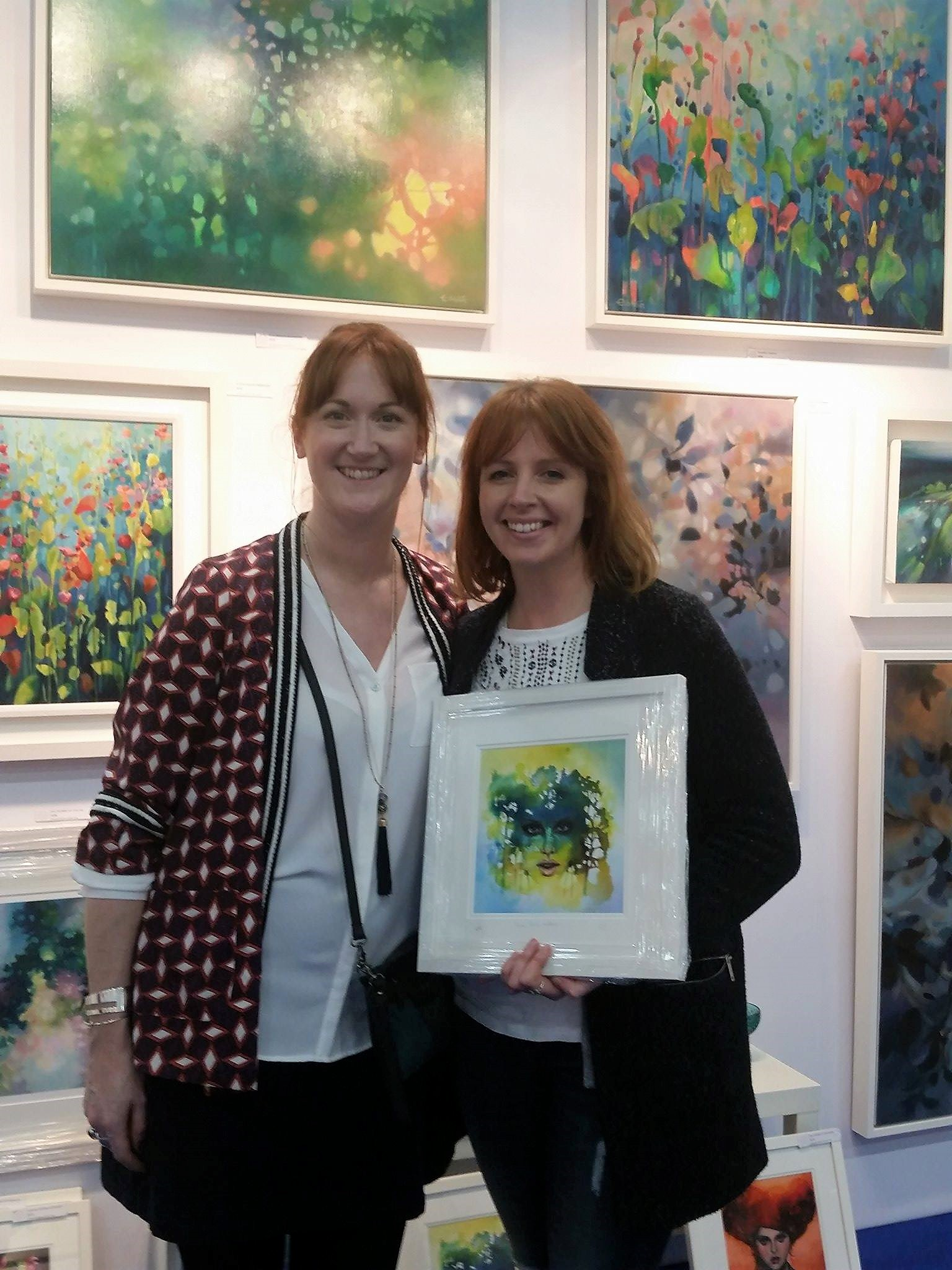 The paintings of Eibhilin Crossan Art at Artsource 2017 in the RDS Dublin