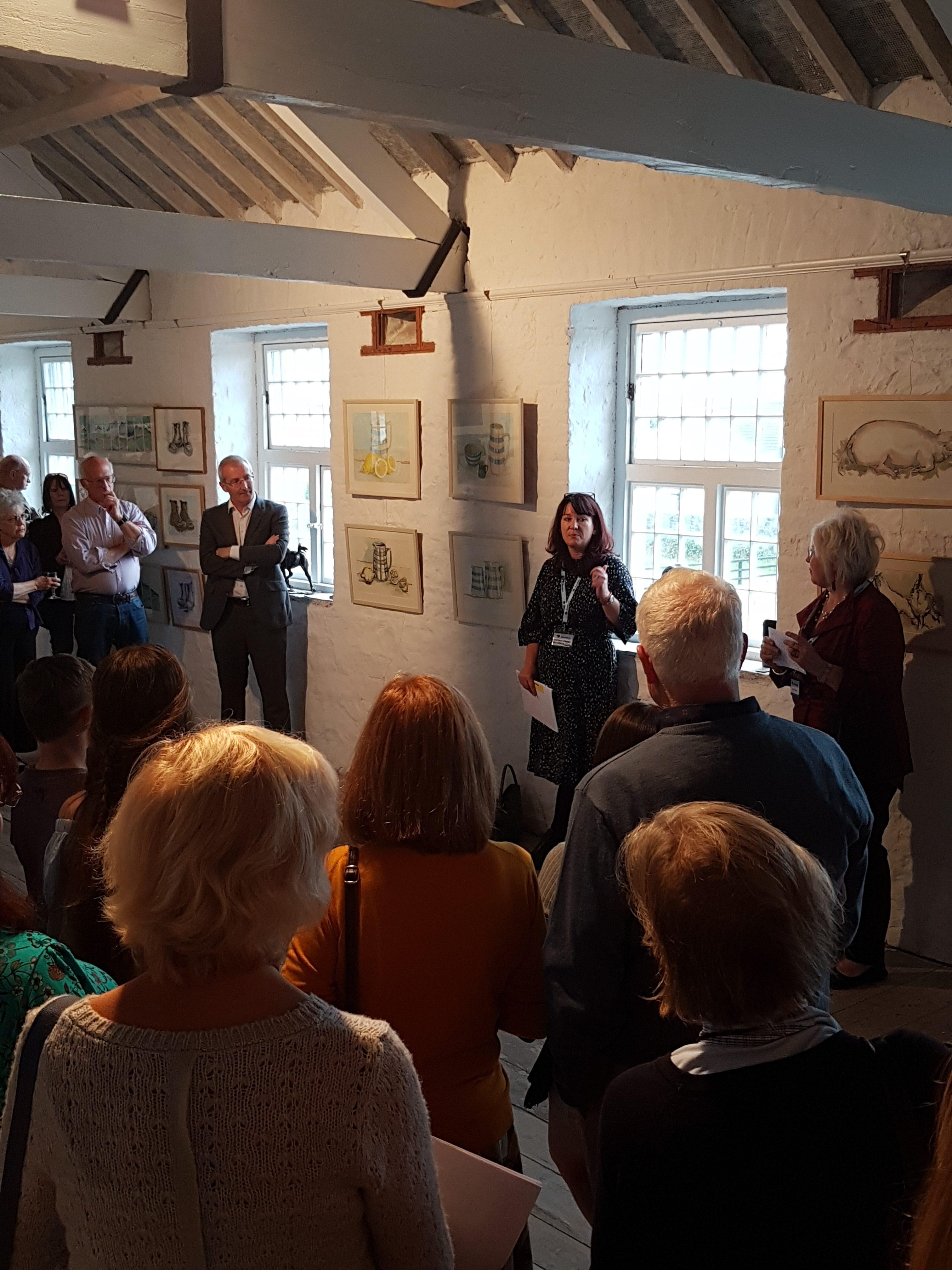 Shorelines art festival exhibition opening