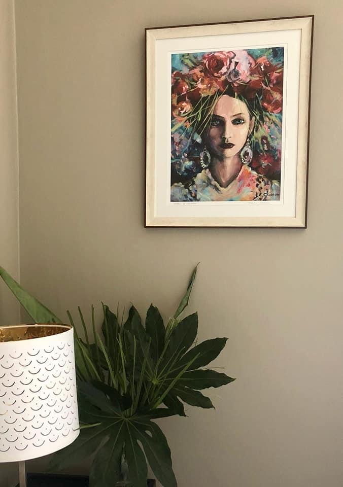 Goddess of Inspiration Print by Eibhilin Crossan