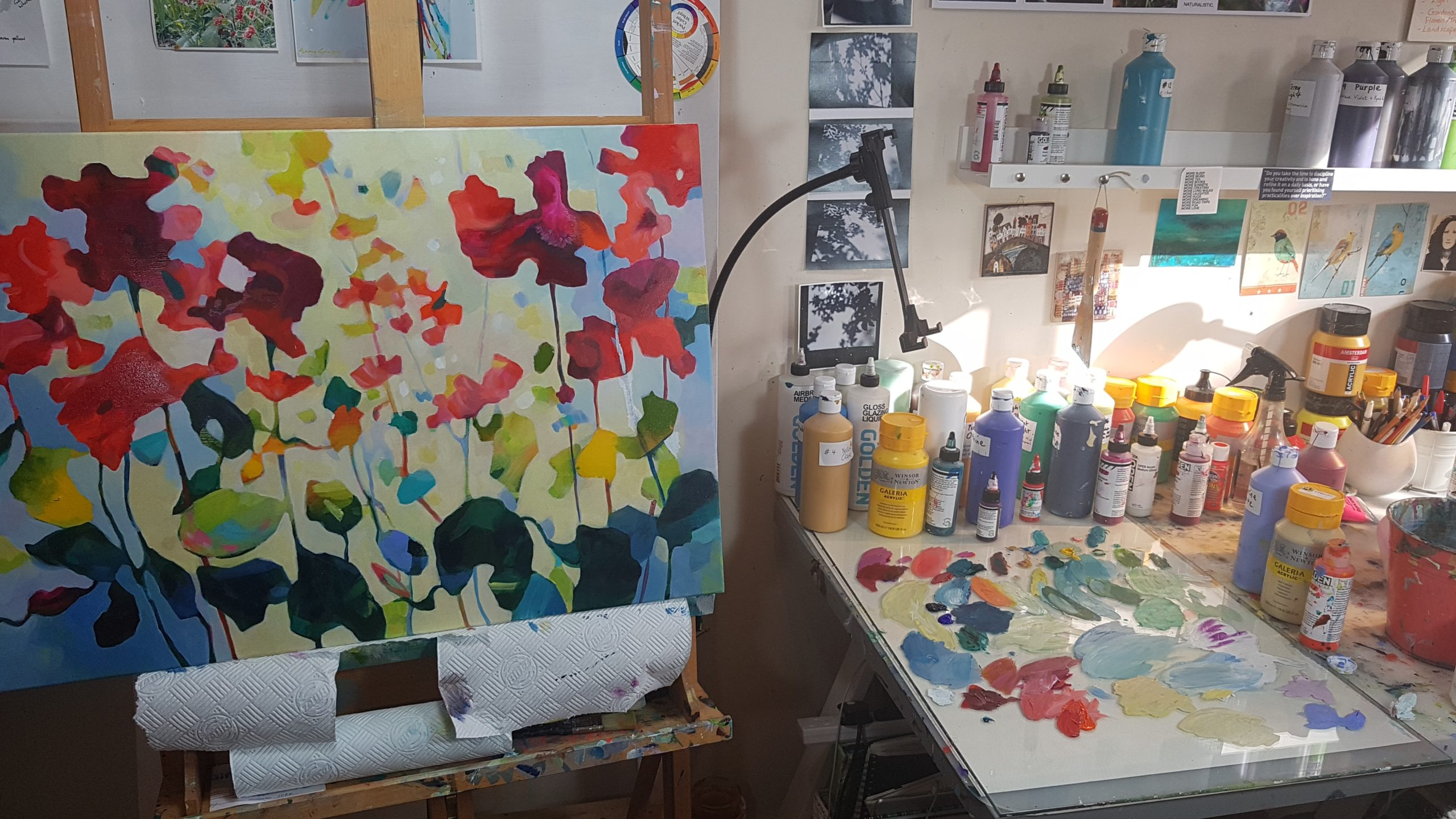 A blog post about how to create an art zone or small studio space in your home by Irish artist Eibhilin Crossan